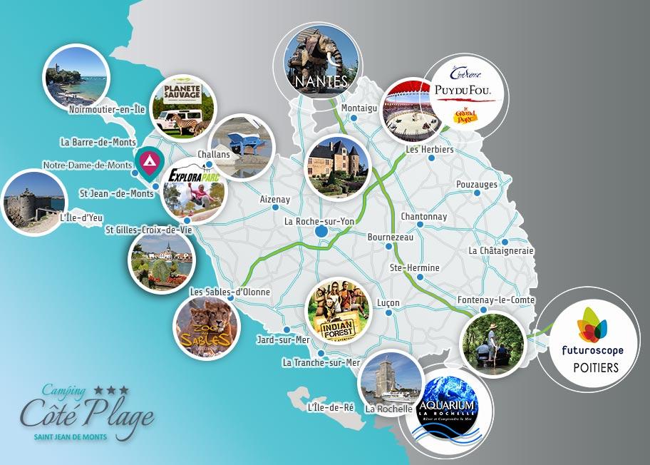 carte du tourisme en vendée