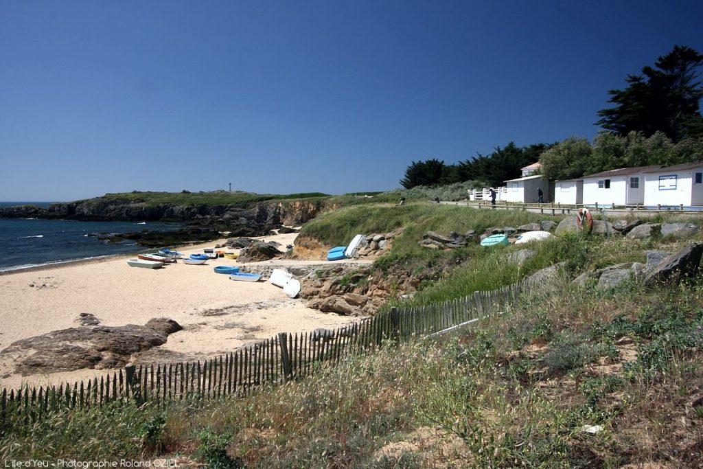 Photo cabane de plage à l\'île d\'Yeu Vendée