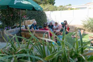 terrasse du bar camping côté plage service