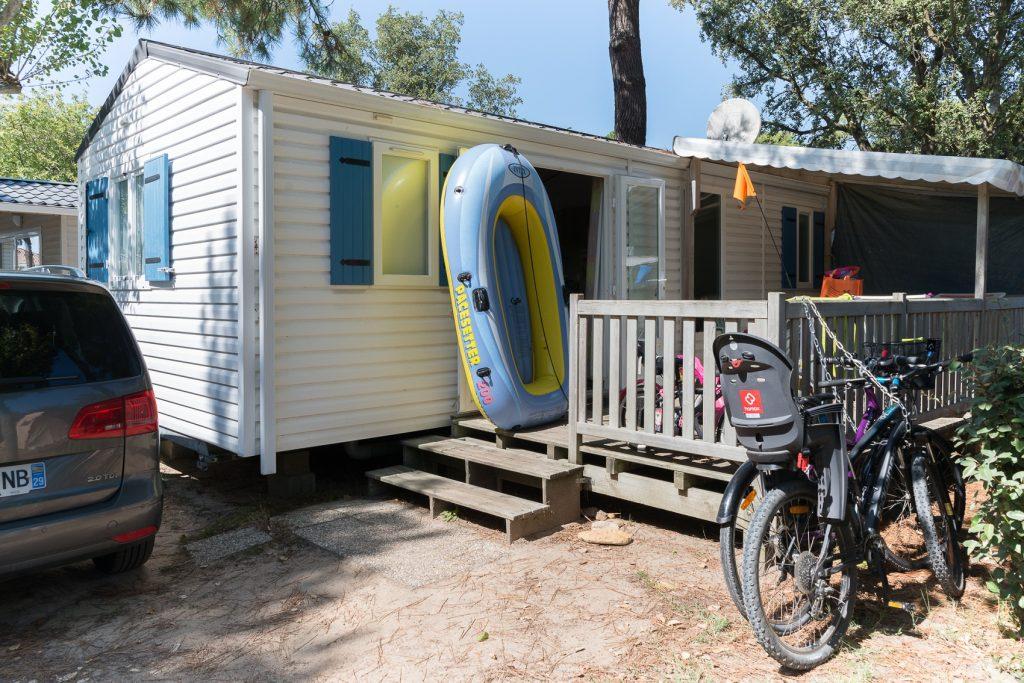 photo camping cote plage st jean de monts en vendee mobil home cordova